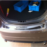 Car Styling For Ford Mondeo IV 2010 2012 Stainless Steel Rear Bumper Protector Guard Plate Cover