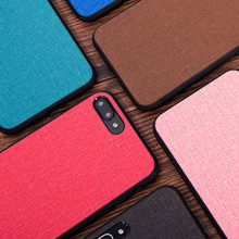 For Huawei honor 10 case cover lite back fabric shockproof silicone capas coque for note