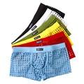 6 unids mesh hombres atractivos boxers underwear shorts ahueca hacia fuera la ropa de noche del sexo lindo ver a través de calzoncillos de alta calidad libre gratis