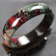 Прямая, высокое качество, натуральный браслет с цветком персика, браслеты с цветком сливы, Женские Ювелирные изделия нефрита