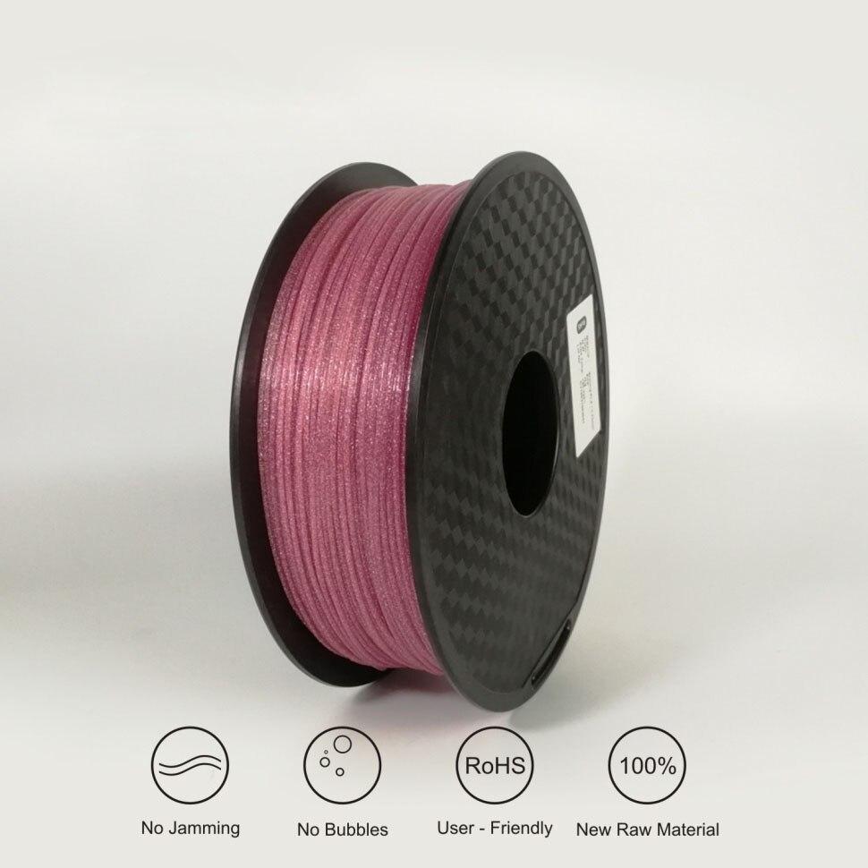 3D Imprimante PLA Filament 1.75mm, Étincelle Brillant Bleu Or Pourpre brillant 3D Filament, +/-0.03mm