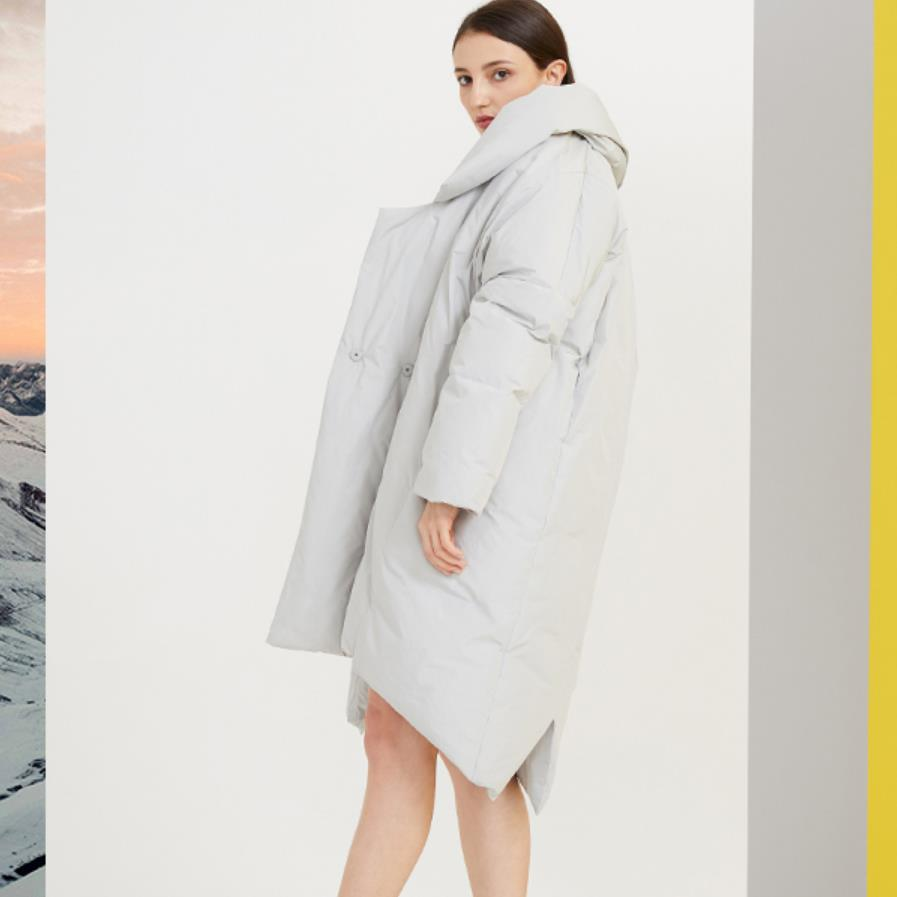 Wholesale promotion double breasted v-neck warm   down   jacket female 90% white duck   down     coat   for cold weather wq2269