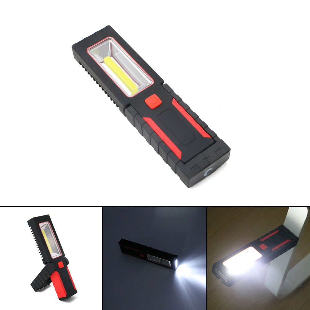 2 Mode Flashlight Adjustable seat Outdoor Work light Camping Lamp With Built-in Magnet Hook LED Flashlight Black with Red Light led hook light magnetic flashlight perfect torch work lamp with magnet and 2 light modes camping outdoor sport drop clh
