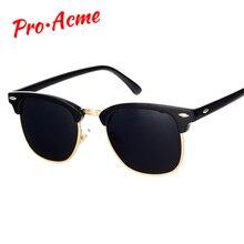 CLEARCODE Classic Brand Polarized Sunglasses Men Women  Half Metal Mirror Unisex  Sun Glasses Gafas Oculos De Sol UV400 CC0832 стоимость