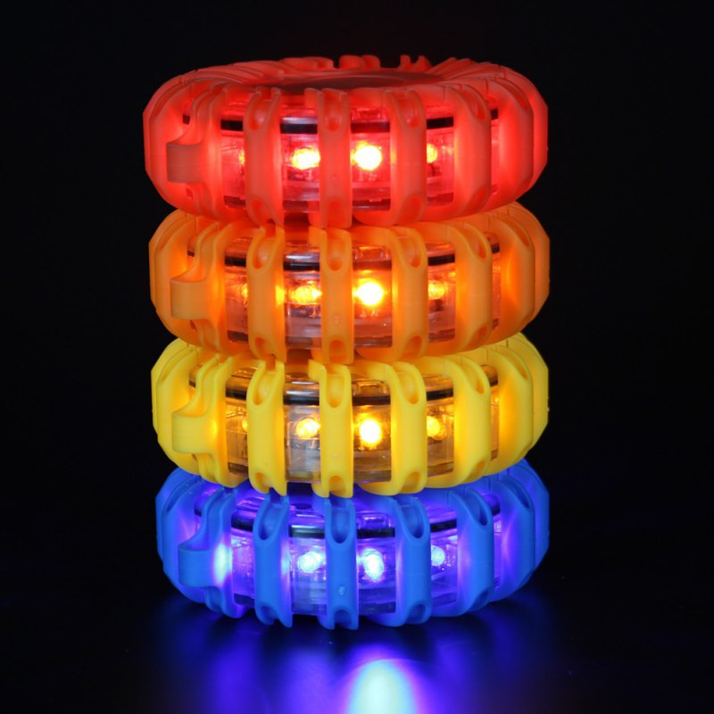 16 LED HS-8106 Charging LED Flashing Car Warning Light Rechargeable Safety Emergency Road Magnetic Warning Lights Yellow