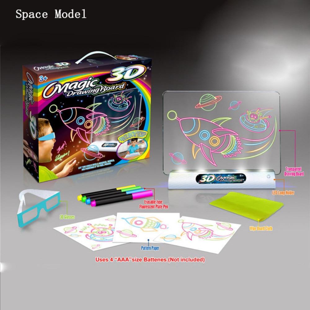 Tablero de pintura mágica 3D flash tridimensional mágico tablero de - Educación y entrenamiento - foto 2