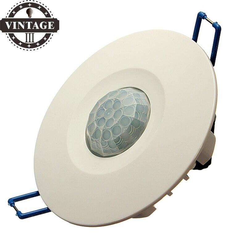 купить LightInBox Recessed PIR Ceiling Occupancy Motion Sensor Detector Light Switch Day Night Switch Control For All Kinds Of Lighting по цене 463.29 рублей
