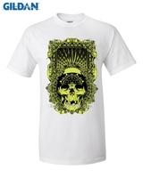 GILDAN Fashion Classic Skull Series T Shirt Metallica T Shirt Men Skull Printing Heavy Metal Rock