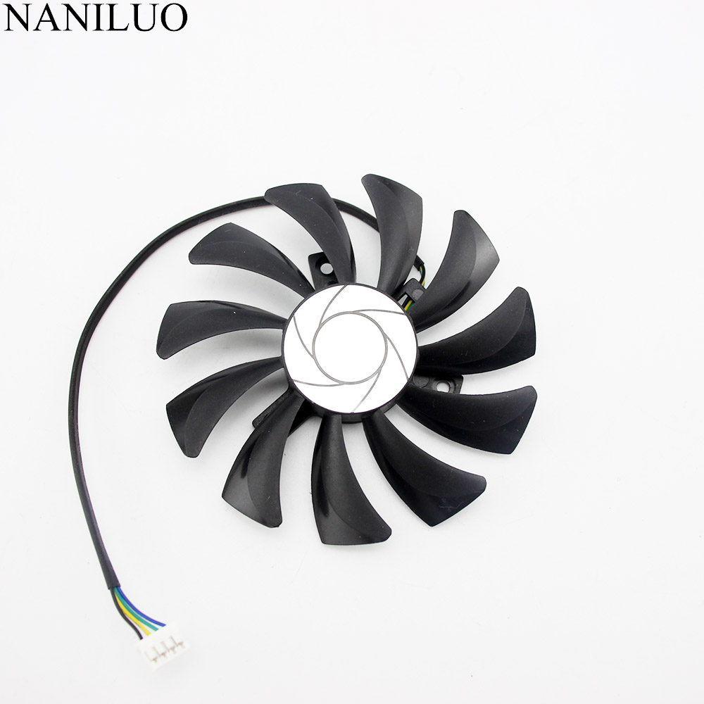 85mm 4pin HA9010H12SF-Z RX460 4GB Cooler Fan Replace for MSI Inno3D P106 960 GeForce GTX 1060 AERO ITX 3G 6G OC Video card image