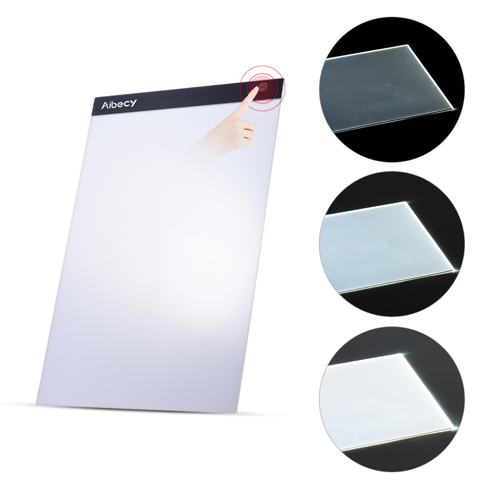 Math Sets Sunny Kemila A4 Digital Drawing Graphic Tablet Led Light Box Tracing Copy Board Painting Writing Table Three-level Stepless Dimming