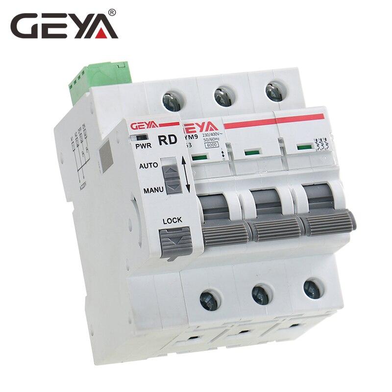 us $39 6 28% off geya din rail gym9 3p mcb with autoreclose device automatic reset circuit breaker smart home mcb auto recloser in circuit breakers 12 volt fuse block manual & auto ups inverter wiring