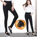 Large size women winter pants thickening pants black blue fat sister high waist elasticity cotton elastic warm pants 2XL 6XL