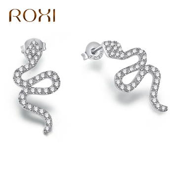 ROXI Snake Earrings For Women Silver Color Punk Earings Fashion Jewelry bijoux Animal Ear Party Accessories.jpg 350x350 - ROXI Snake Earrings For Women Silver Color Punk Earings Fashion Jewelry bijoux Animal Ear Party Accessories boucle d'oreille