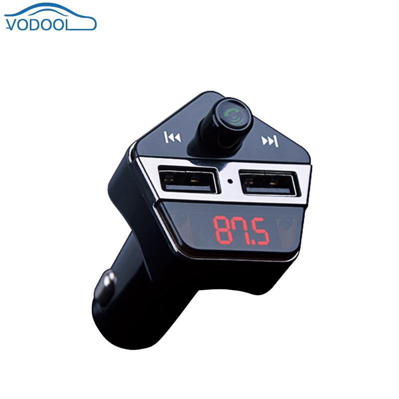 Bluetooth V4.2 EDR FM Transmitter Wireless Dual USB Car Charger Stereo A2DP MP3 Music Player With GPS Find Car Accessaries