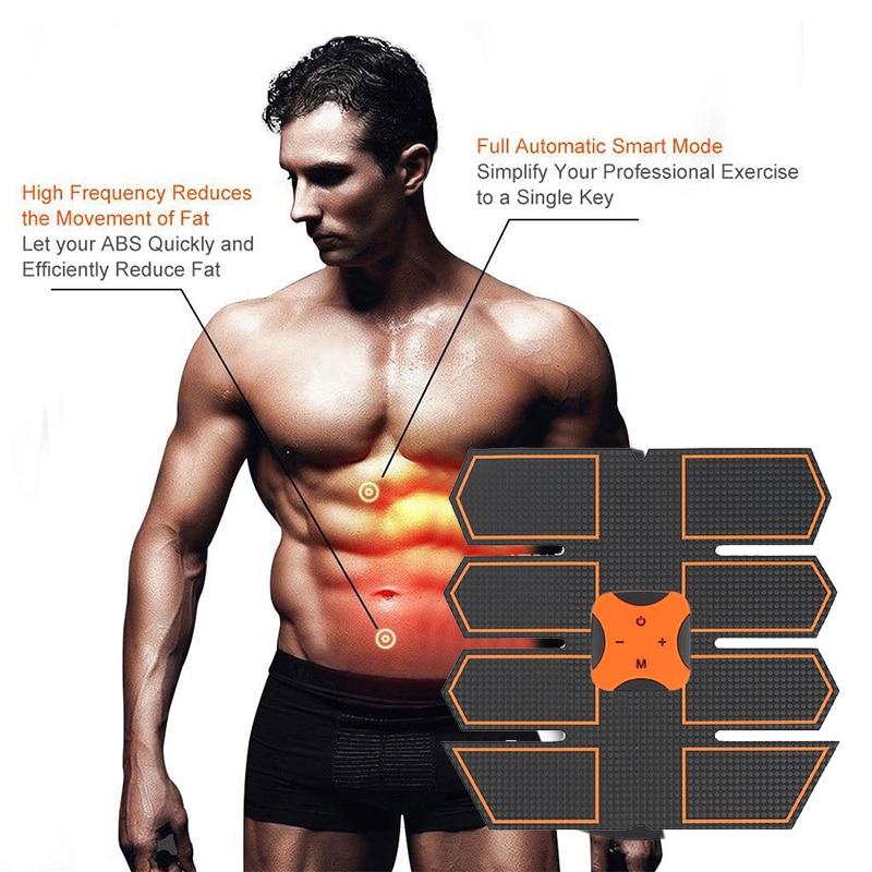 Smart Abdominal Muscle Trainer Sticker Body Sculpting Massager Stimulator Pad Fitness training Arm Sports Stickers gym equipment