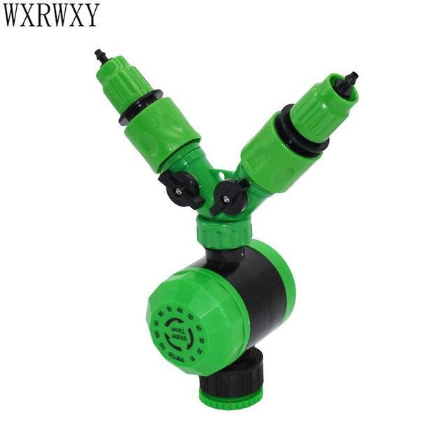 wxrwxy 2 hours Water Drip irrigation timer 2 way tap 1/4 Splitter ...
