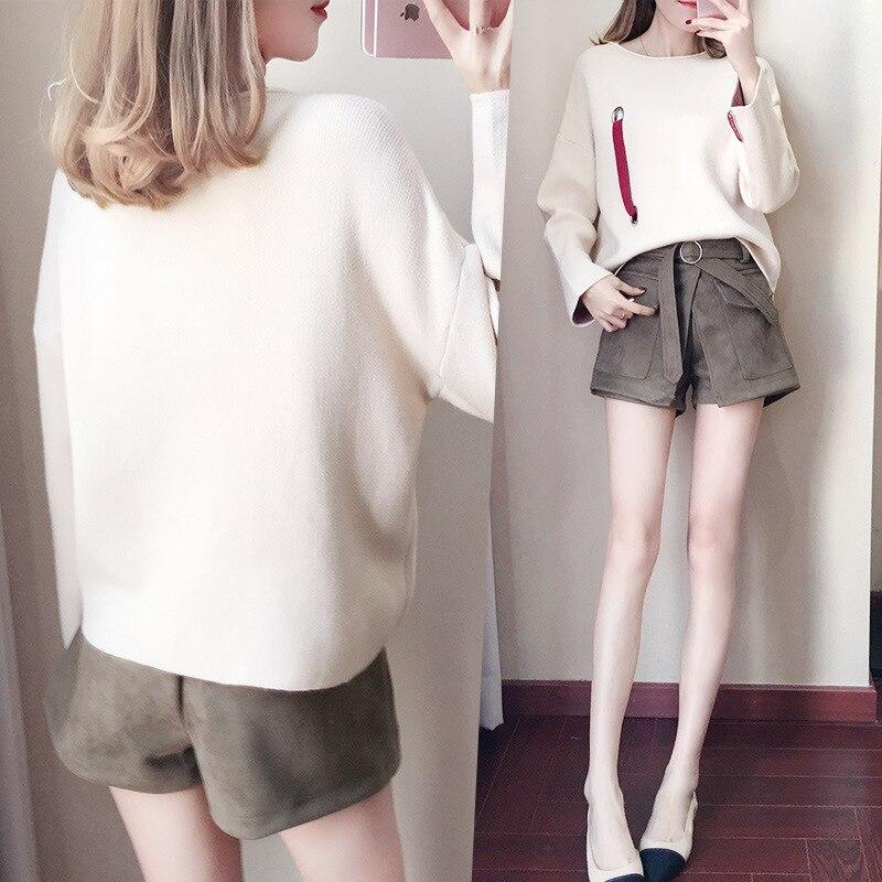 Deux pièce Femme 2 Femmes Coréenne 2019 Mode Ensemble Pcs Ellacey Longues De Costume À Printemps Et Shorts Nouvelle Manches Casual Chandail wORXqB7