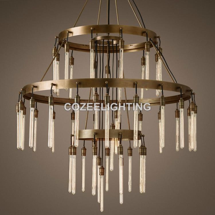 Novi veliki hotelski lestenec za osvetlitev LED Edison žarnica - Notranja razsvetljava - Fotografija 4
