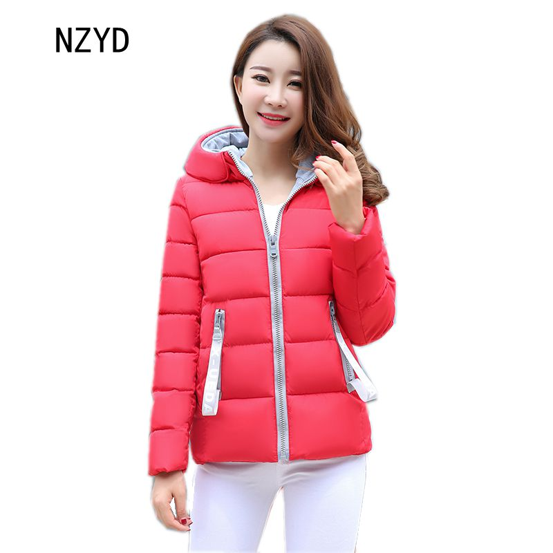 Winter Women Parkas 2017 New Fashion Hooded Thickening Super warm Short Cotton Jacket Long sleeve Slim Big yards Coat LADIES305 women winter parkas 2017 new fashion hooded thick warm patchwork color short jacket long sleeve slim big yards coat ladies210
