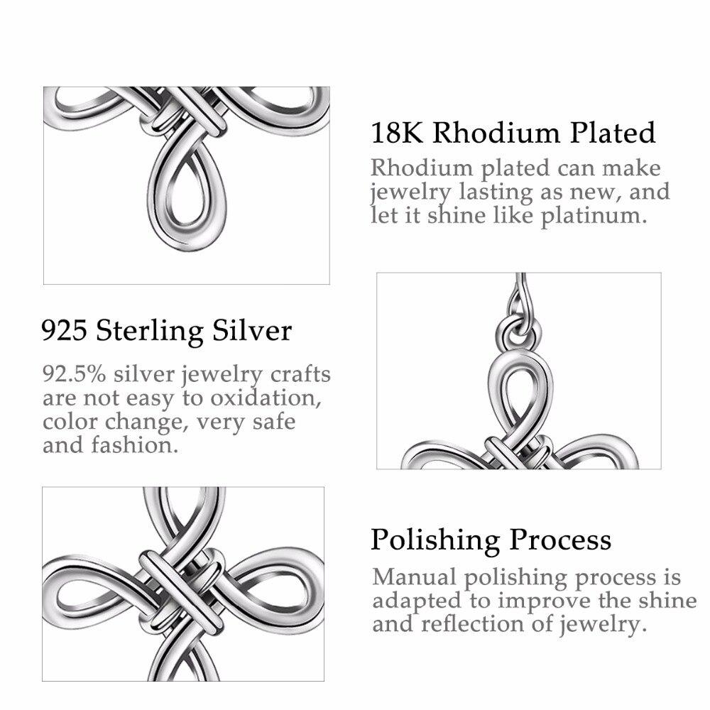 8adb3622ef29 Angel Caller S925 Silver Cross Earrings Sterling Silver Good Luck Irish  Celtics Knot Vintage Dangles Drop Earring for Women-in Earrings from Jewelry  ...