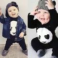 Panda bebé mameluco 2016 ropa de bebé niño lindo Panda bebé mameluco ropa de recién nacido de manga Larga mono ropa infantil