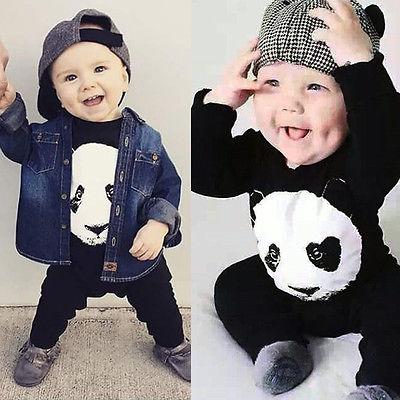 283e8ad37607 baby panda romper 2016 baby boy clothes cute Panda baby romper ...