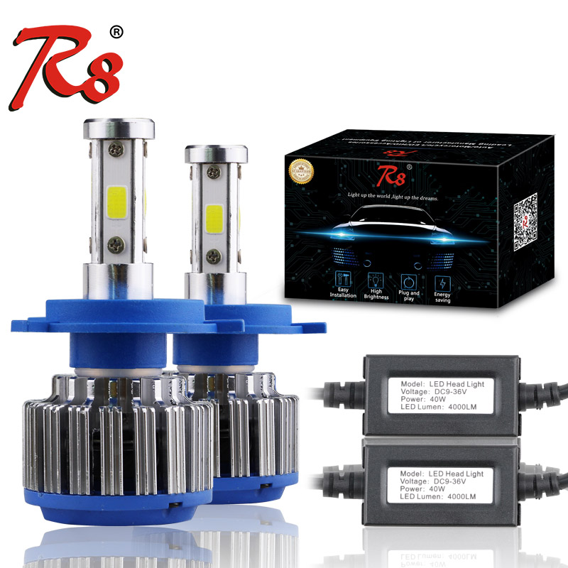 R8 Good Quality Auto Z4 Series LED Auto Headlight Conversion Kits H4 H13 9004 9007 Hi/Lo Bulbs 40w 4000LM Super Bright 6500K