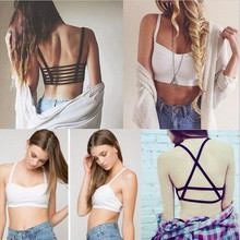 HOT 2017 New Fashion Hollow Out stripe Camis Women tops Bra Crop Top Tank Beach Vest