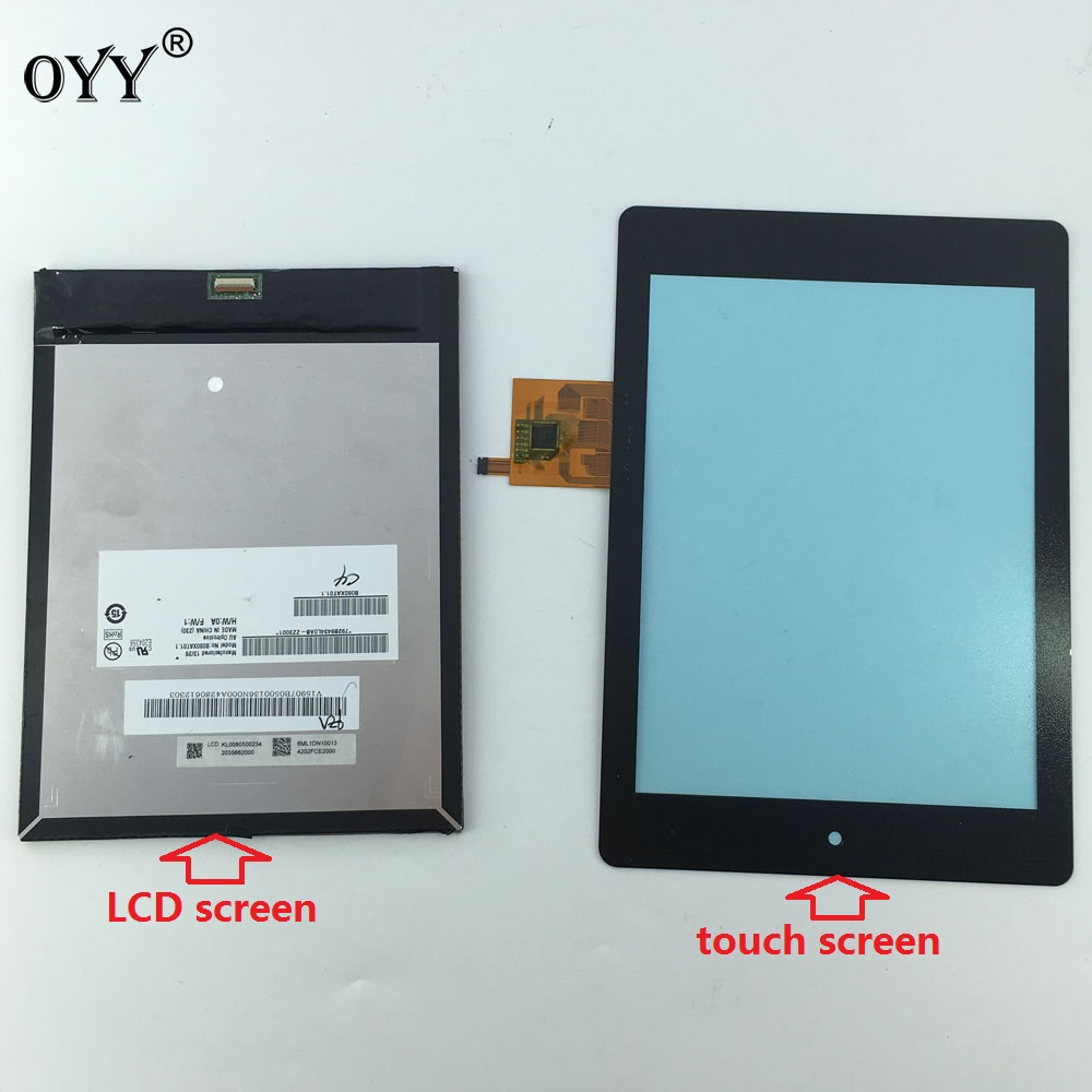 B080XAT01.1 LCD Display Touch Screen Matrix Digitizer Tablet Assembly 7.9'' For Acer Iconia Tab A1-810 A1 810 A1-811 A1 811
