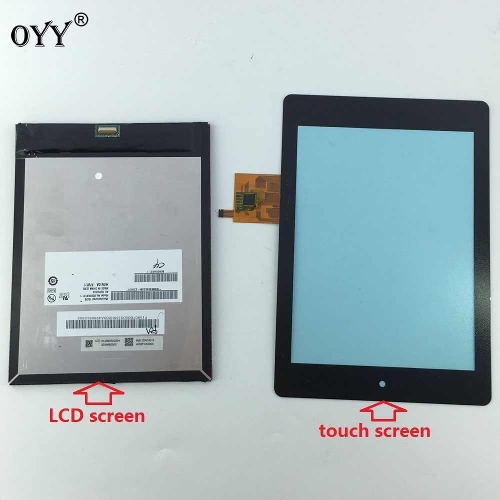 B080XAT01.1 dokunmatik LCD ekran Ekran Matris Sayısallaştırıcı Tablet Meclisi Için 7.9 ''acer iconia Tablet A1-810 A1 810 A1-811 A1 811