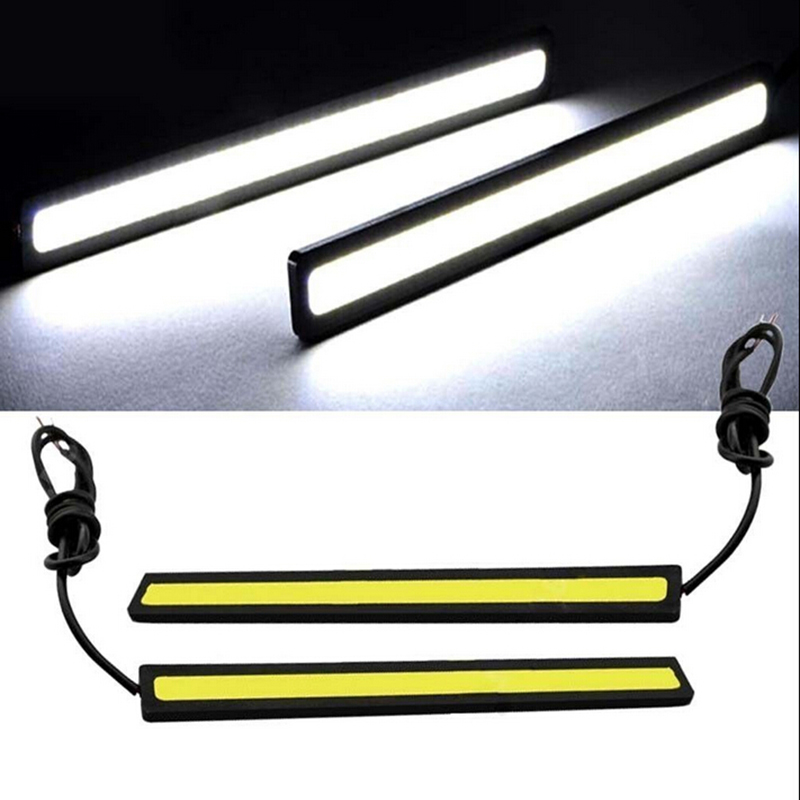 1 Piece 17cm Universal COB DRL LED Daytime Running Lights Car Lamp External Lights Auto Waterproof Car Styling Led DRL Lamp car styling 10pcs high brightness drl 23mm eagle eye daytime running light waterproof parking lamp led car work lights source cc