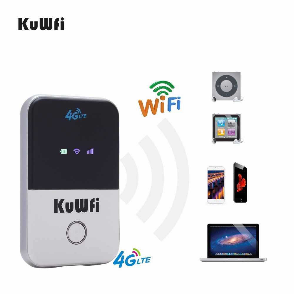KuWfi 4G Wifi Router Mini 3G/4G LTE Không Dây Di Động Bỏ Túi Wi-Fi Hotspot Di Động Trên Xe Hơi router Wi-Fi Có Khe Sim