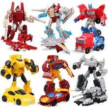 Figurines daction de voiture de Robot de déformation de jouet de Transformation de 6 pièces/ensemble pour des cadeaux danniversaire de garçon
