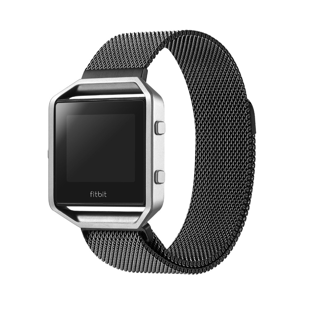 V-MORO Milanese loop stailess steel Bracelet Strap for Fitbit Blaze Smart Fitness Watch Black, Silver,Rose Gold crested milanese loop strap metal frame for fitbit blaze stainless steel watch band magnetic lock bracelet wristwatch bracelet