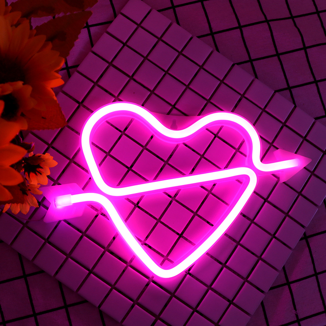 Neon Alphabet Heart Lamp & And Love  LED Night Light 5