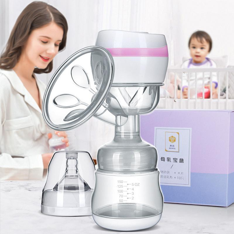 Portable Electric Breast Pump With Milk Bottle Infant USB BPA free Powerful Breast Pumps Baby Breast Feeding rechargeable D4 цена