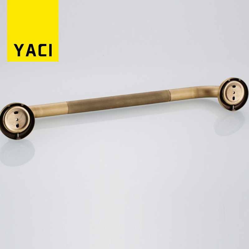 YACI Grab Bars Antique Solid Brass Bathroom Safety Handles Tub Non ...