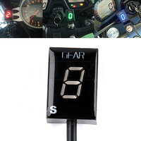 Motorcycle LCD Electronics 6 Speed 1 6 Level Gear Indicator Digital Gear Meter For Suzuki SV1000