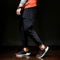 Fashion Brand Military Corduroy Casual Pants Men New Male Slim Fit Pencil Blac Pants Trousers Hip