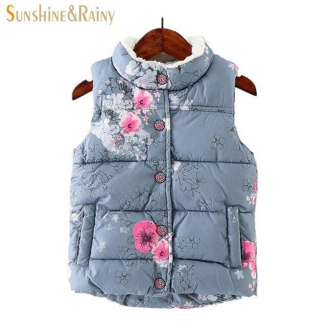 551984c27 2017 Winter Baby Girls Waistcoat Thick With Fleece Kids Warm Vests ...