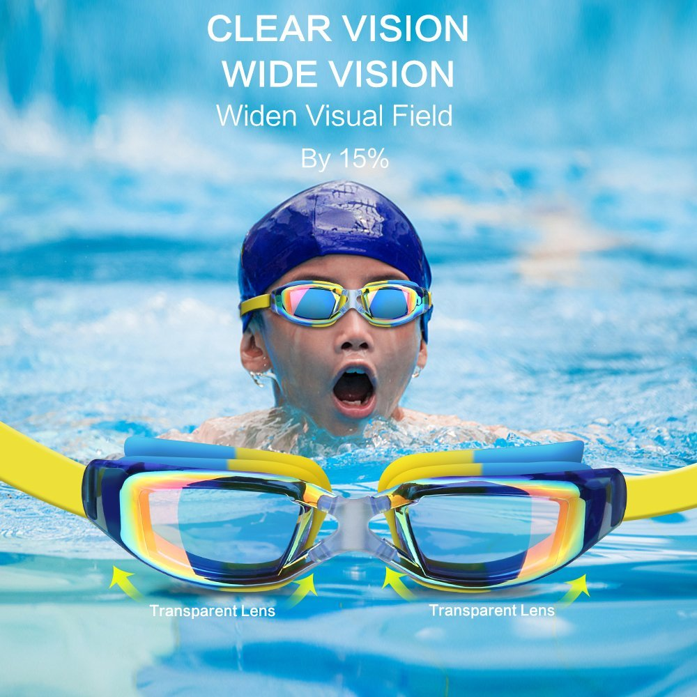 Kids Swimming Anti-Fog UV Protection Prescription Goggles Waterproof Glasses Goggle 3