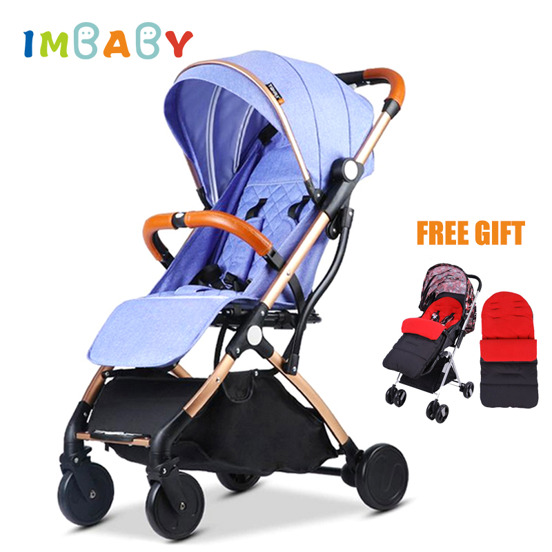 IMBABY Lightweight Baby Stroller Plane With Winter Warm Foot Cover Portable Travelling Baby Carriage Pram Children