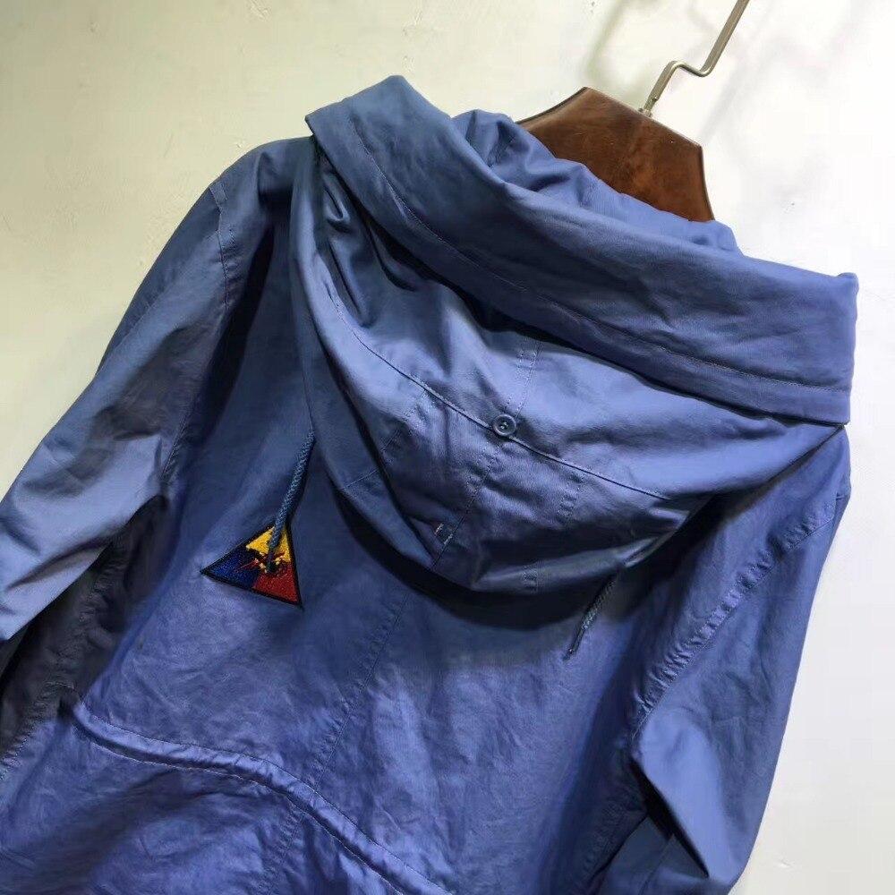 Veste Bleu Mode Longue Mme Modèle Automne M Printemps Simple Porter Pour Long En BXTRB