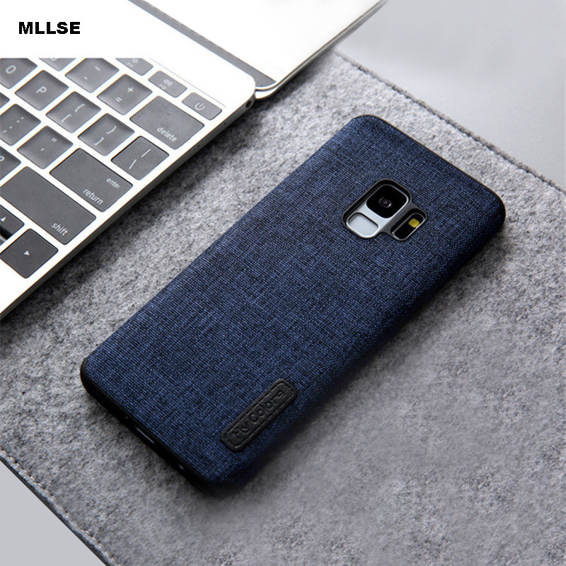 MLLSE For Galaxy S9 Plus Cover Linen Cloth+Soft Silicone TPU Shockproof Phone Back Case For SAMSUNG S8+ Note 8 Protective Shell