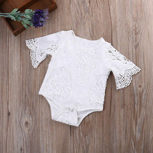 Lace Summer White Baby Girls Romper