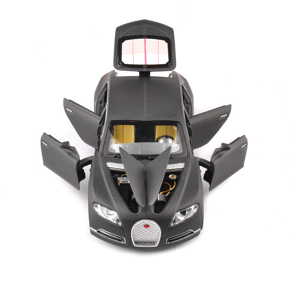 Bugatti 1/32 Alloy Diecast Automobile Mannequin Idea Model Black Shade w/mild&sound Pull Again Automobiles Mannequin Youngsters Toys Collectible