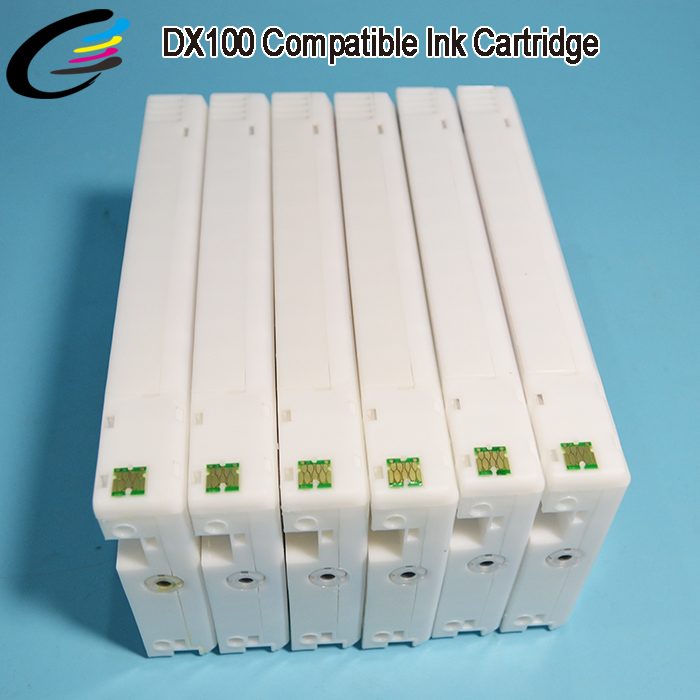 Hot Sell In South America Fuji DX100 Ink Cartridge with Compatible Chip 12PCS directly use uv dye ink full ink cartridge for fuji dx100 dx 100 printer for epson t7811 t7816 compatible cartridge with chip