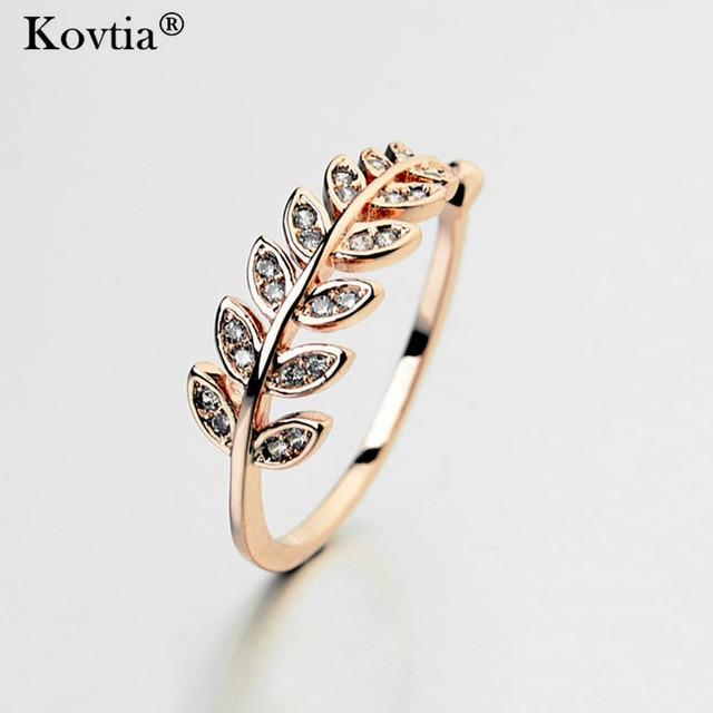 KOVTIA Brand Cute Finger Rings For Women Italina Fashion Jewelry