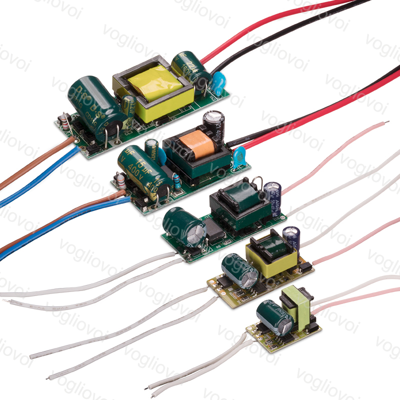 Vogliovoi Led Transformer 300MA AC110 AC220V IP20 1-3W 4-7W 8-12W 13-18W 18-24W For Downlight Bulb Spotlight Built In Driver PCB