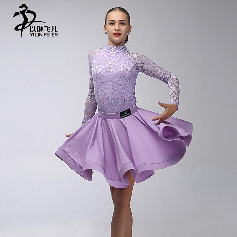 Latino salsa Salón danza Niñas dancewear Top y falda/Latino danza ...